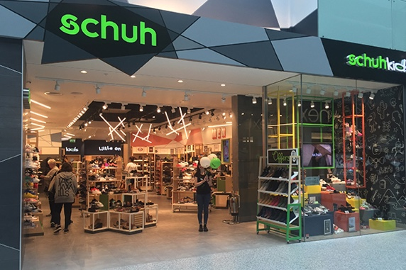 A physical schuh retail store
